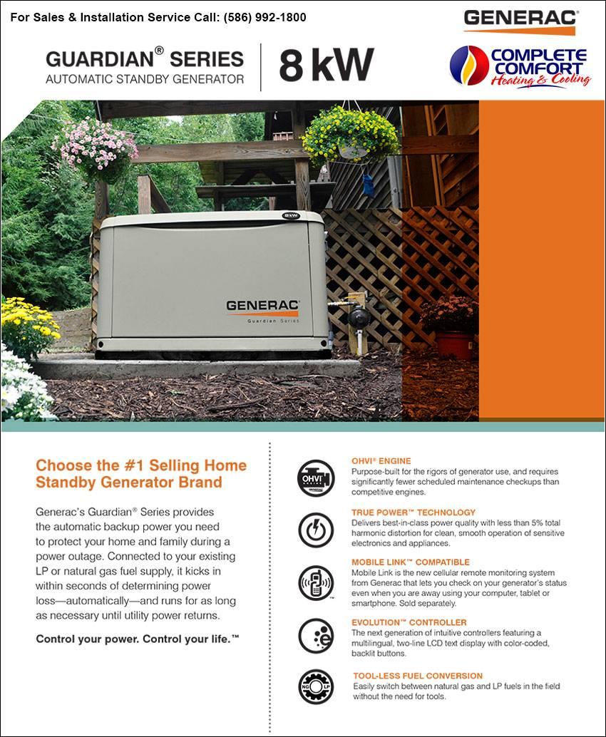 Generac Home Power Generators Guardian Series Sales Service Installation Complete